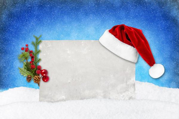 xmas, kort, blå, sne - 10410689