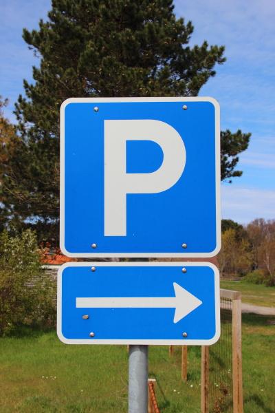 parkerende parkering tilmeld retningspil piktogram ikon