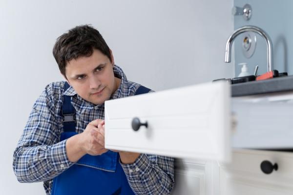 mandlig, tømrer, installere, skuffe - 28215138