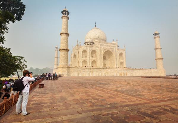 turist, tager, billeder, af, taj, mahal - 28469746