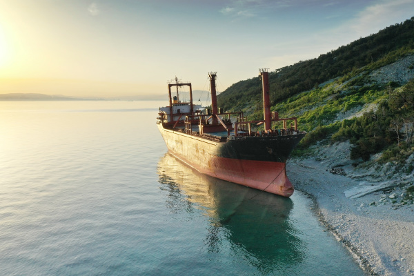 shipwreck, , dry, cargo, ship, left - 28586533