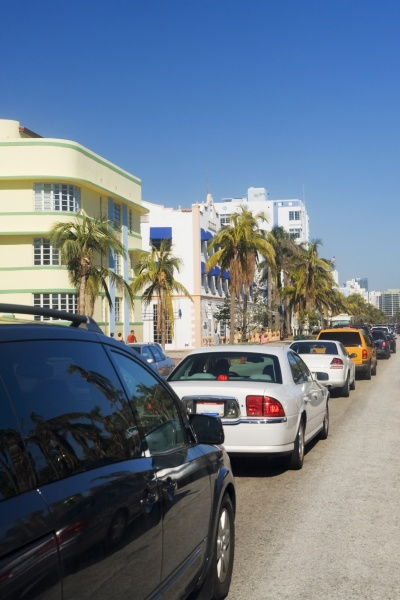 trafik pa vej miami florida usa