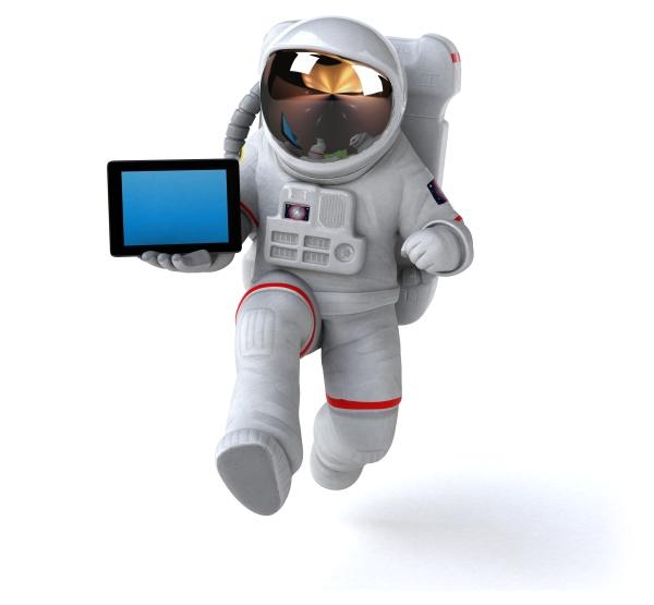 fun, astronaut, , , 3d, illustration - 29708391