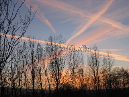 solnedgang linjer maerke fornemme aftenhimmel twilight