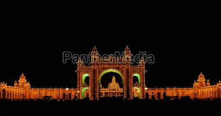 illuminato india sfarzo esotico palazzo indiano