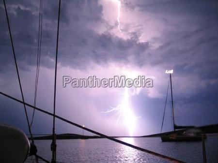 lang eksponeringstid storm thundery lyn lysspil