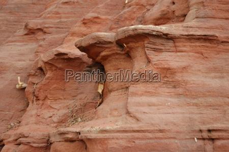 sten stenmasse stenlag klippe sandsten erosion