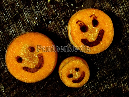 fnise smiler ansigt tilfredshed hoveder gulerodder