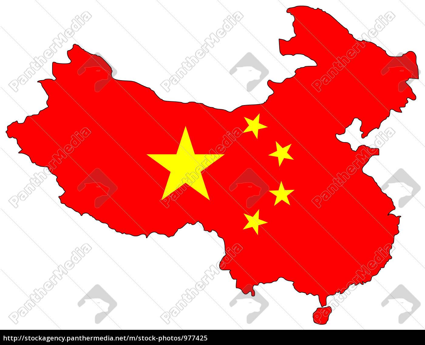Kort Over Folkerepublikken Kina Royalty Free Image 977425