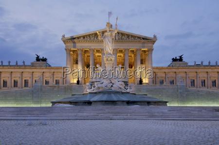 mindesmaerke turisme wien ostrig aftenstemning parlamentet