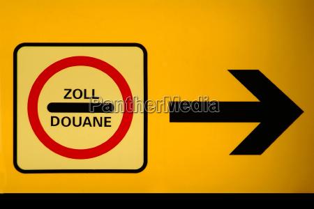 senyal poste indicador los estados fronterizos