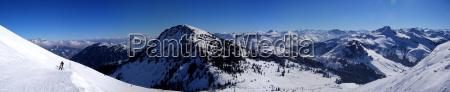 bjerge vinter udsigt udsyn vue vid