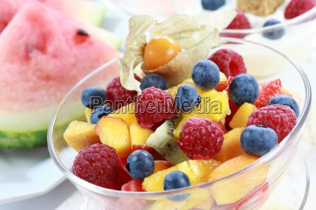 sommer forfriskning frugtsalat