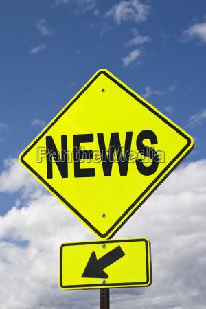 skilt signal nyheder pil