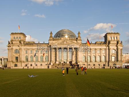 berlin tyskland den tyske forbundsrepublik reichstag