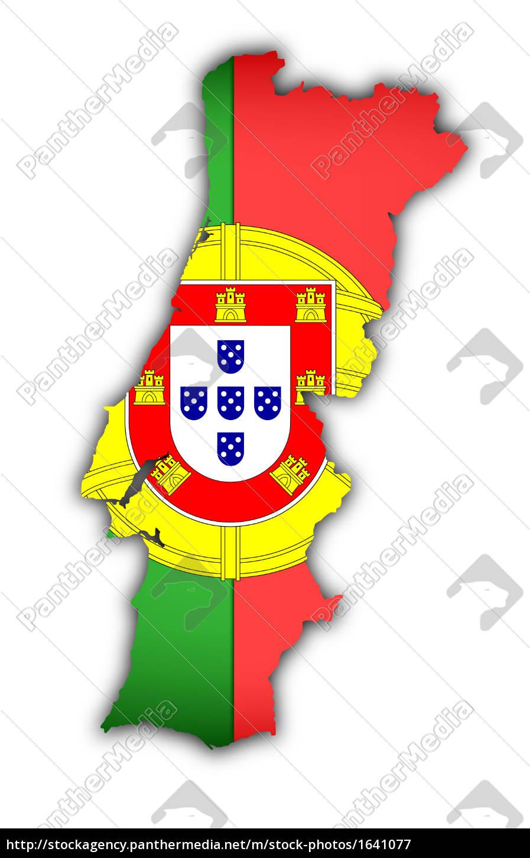 Flag Og Kort Over Portugal Royalty Free Image 1641077