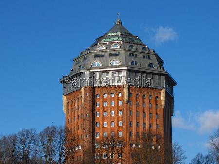 azul torre historico hamburgo estilo de