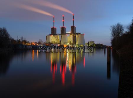 miljo kraftvaerk kraft energi elektricitet strom