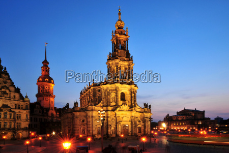 kirke by dresden hofkirche
