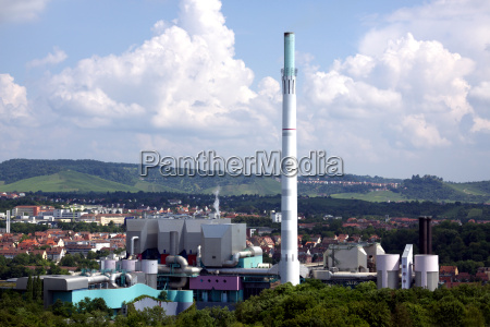 industri industrianlaeg varme skorstene gaze affald