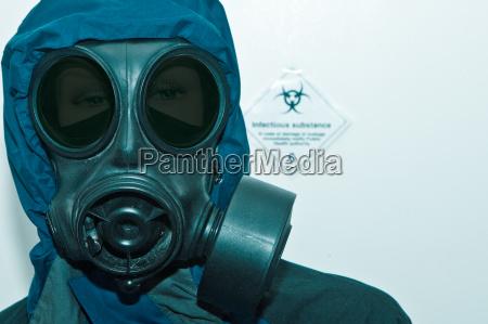 fugleinfluenza laboratorium forsvar epidemi gasmaske beskyttende