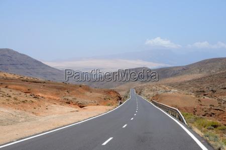 country road on fuerteventura