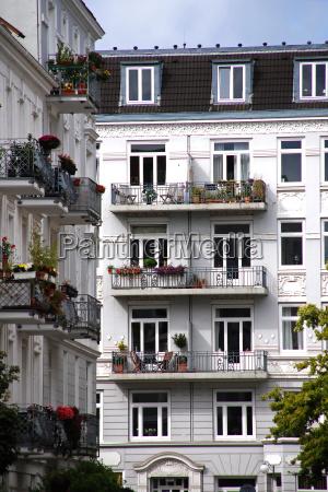 residential block in hamburg
