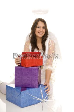 engel mit geschenk