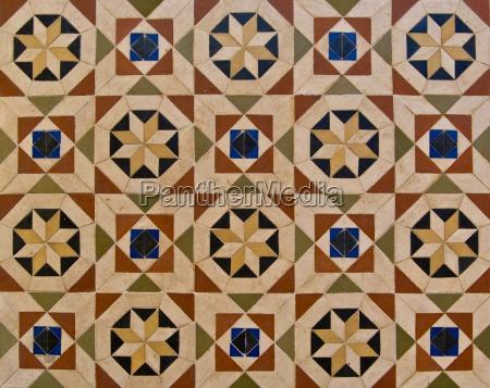 floor with oriental patterns