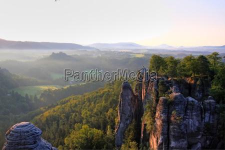 solopgang i bjergene