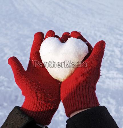 vinter handsker snebold kaerlighed i kaerlighed