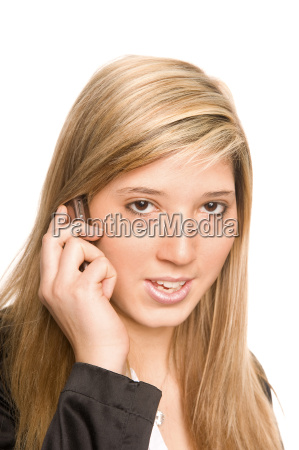 frau telefonieren