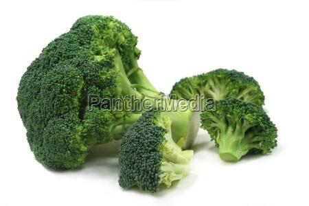 en flok af broccoli