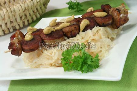 sauerkraut with sausage