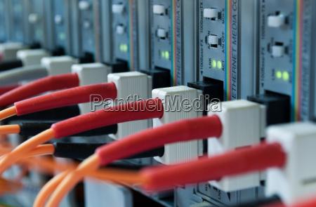 fiberoptisk kabel til rechner