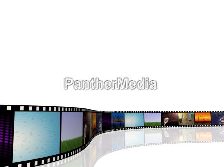 fritstillet afsondret lysspil isoleret film biograf