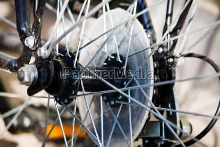 spokes of a bicycle