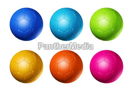 farvede fodbolde fodbolde