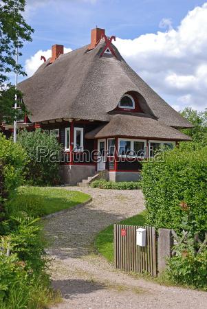 thatched thaus in schleswig holstein