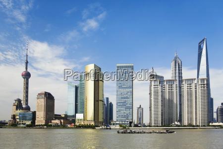 skyskrabere ved havnefronten oriental pearl tower