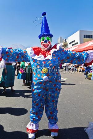klovn dans pa gaden arequipa peru
