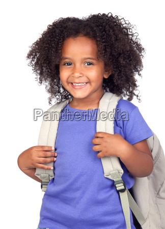 studerende lille pige med smukke har