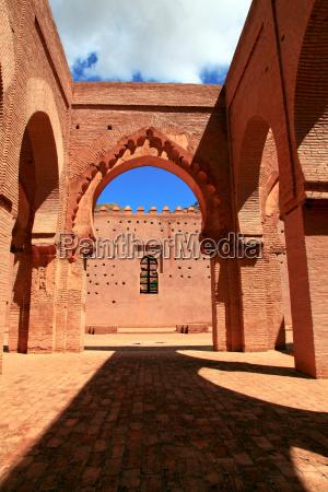 mindesmaerke antik faestning marokko moske middelalderen