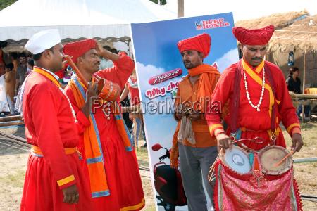 traditionelle indische musiker