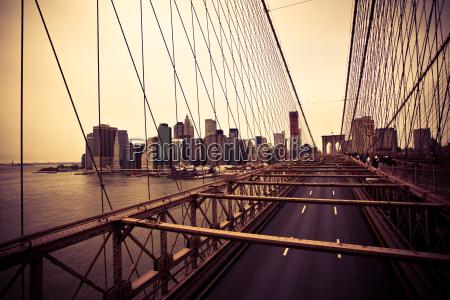 udsigt over finansdistriktet fra brooklyn broen