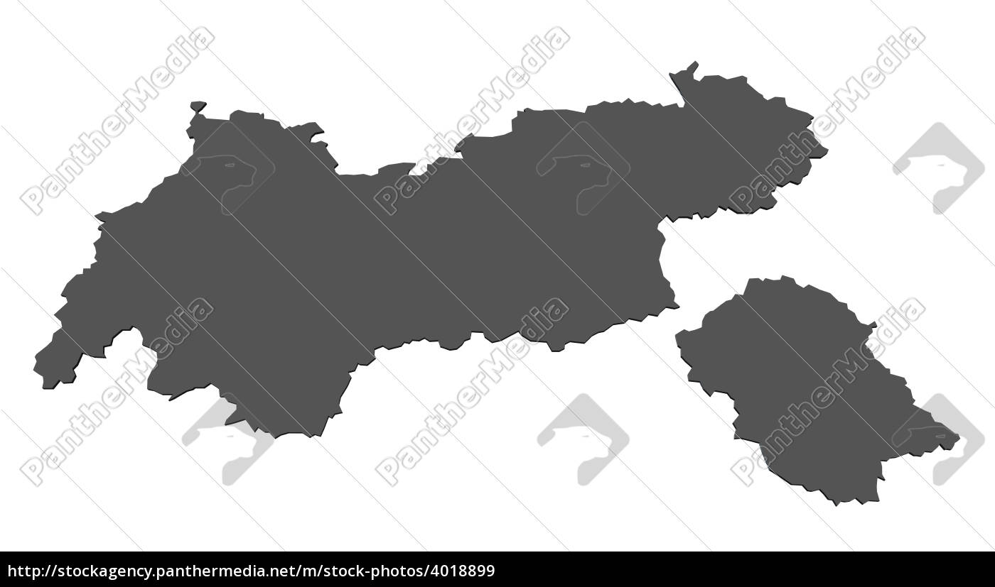 Kort Over Tyrol Ostrig Stockphoto 4018899 Panthermedia
