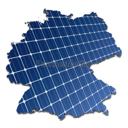 monokrystallinske solceller i en abstrakt kort