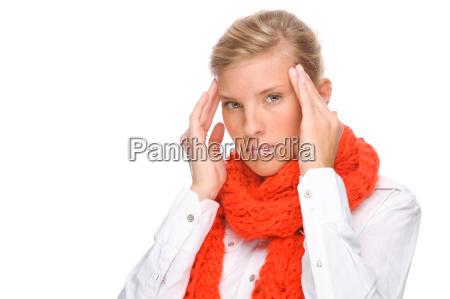 kvinde med kold
