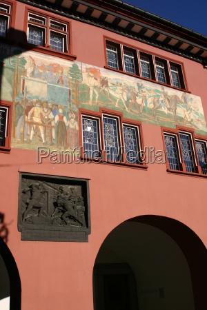 hus bygning schweiz svejts landsby