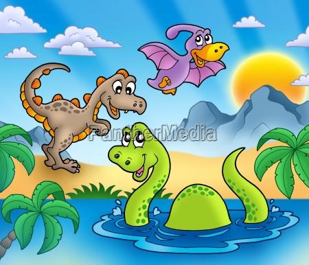 landskab med dinosaurer 1